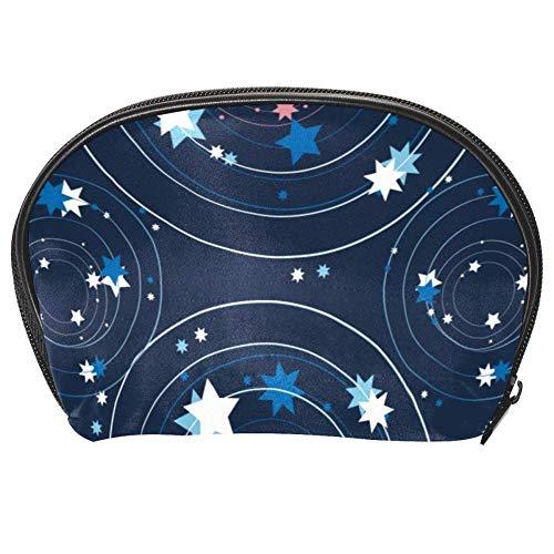 Tizorax Trousse de maquillage avec petites étoiles et cercle rond