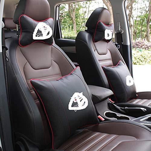 Kussen lendenkussen auto logo 2 stuks nekkussen + 2 stuks lendensteun voor Ford Citroen Great Wall Volvo Chevrolet Juguar Mazda Cadillac Buick Infiniti