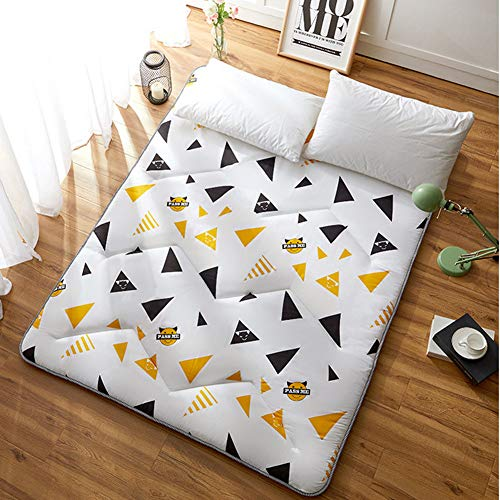 FSYGZJ Japanese folding mattress Double adult futon Floor mat student Dormitory Comfort Portable soft And Breathable Tatami Futon Mat guest mattress For Home Camping,A,90 * 200CM