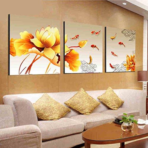 dekorative Malerei im Wohnzimmer Veranda Wandbild/Triptychon/ moderne minimalistische Bilder/Hausanstrich/[Sofa Kulisse Wand]/ Restaurant Bild und Triptychon/[Eingang]-D 50x50cm(20x20inch)