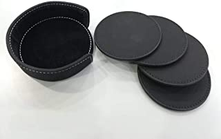 6Pcs Placemat Cup PU Leather Heat-resistance Mats Coffee Mug Drink Coasters Cup Cushion Minions