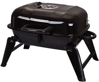 LEZDPP Barbacoa al Aire Libre al Aire Libre Plegable portátil Estufa de carbón Grill Esmalte Carne Conjunto Completo de Parrilla Parrilla de carbón Inicio