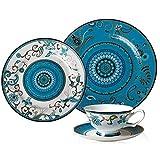 DJY-JY Platos de cena de porcelana de hueso de grado vajilla estilo occidental platos de carne plato de postre pintado a mano...