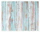 Allstar Placas cobertoras de vidrio universales Blue Wood, juego de dos piezas, cubiertas para cocinas de vitrocerámica, Vidrio endurecido, 30 x 0.8 x 52 cm, Multicolor