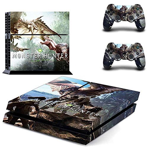 TAOSENG Monster Hunter World Full Cover Faceplates PS4 Skin Sticker Decal For PlayStation 4 Console & Controllers PS4 Skin Sticker Vinyl