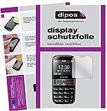 dipos I 2X Schutzfolie klar kompatibel mit Emporia Euphoria V50 Folie Bildschirmschutzfolie