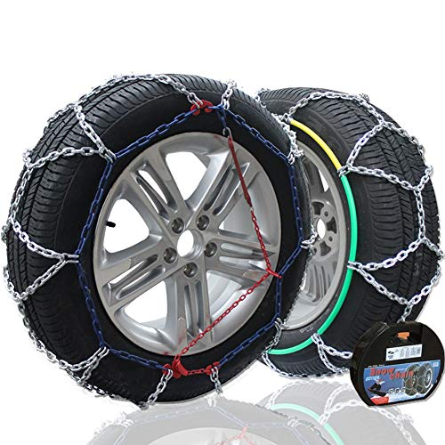 "Big Ant Snow Chain Anti-Skid Tire Snow Chains,Emergency Traction Car Snow Tyre Chains Universal for Light Truck/SUV Tire Chain Width 195mm-255mm/5.85""-10.03""- Set of 2"