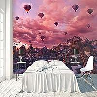 3D大型ポスター 熱風バルーンビュー 巨大な壁紙 不織布3Dアートモダンポスター画像リムーバブルDIYリビングルームカスタマイズ可能なサイズ壁画壁装飾 150X120cm (59X47inch)