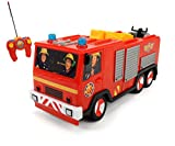 Dickie Toys 203099612 - RC Feuerwehrmann Sam Jupiter, funkferngesteuertes Feuerwehrauto, 22 cm