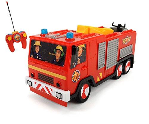 Dickie Toys RC Feuerwehrmann Sam Jupiter, funkferngesteuertes Feuerwehrauto, 22 cm