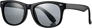 Pro Acme TPEE Rubber Flexible Kids Polarized Sunglasses for Baby and Children Age 3-10 (Matte Black)