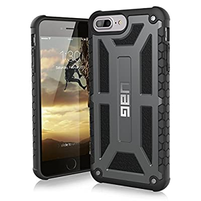 URBAN ARMOR GEAR UAG iPhone 8 Plus/iPhone 7 Plus/iPhone 6s Plus [5.5-inch Screen] Monarch Feather-Light Rugged [Graphite] Military Drop Tested iPhone Case