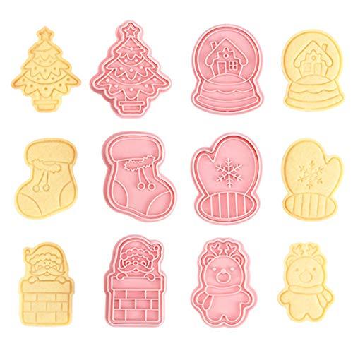 Taicanon Lot de 6 moules à biscuits de Noël 3D