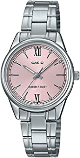 Casio LTP-V005D-4B2UDF Stainless Steel Round Analog Water Resistant Watch for Men - Silver