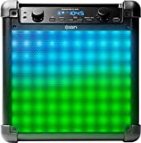 ION Audio Tailgater Flash 2-way Bluetooth Rechargeable Speaker with Sound Reactive LED 'Dynamic Light Show' Mode Includes Microphone, Black Finish