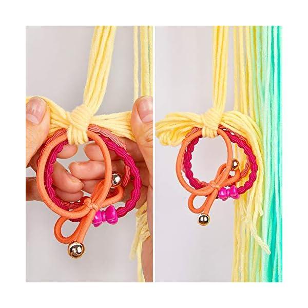 Beinou Unicorn Hair Clips Holder Rainbow Yarn Tassels Hair Bows Storage Shy Unicorn Face Headband Organizer Unicorn… 7