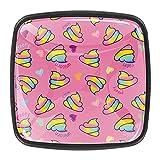 Bonito y divertido diseño de dibujos animados Rainbow PoopiKnobs para gabinetes de cocina para aparador, armario de cocina (4 unidades)