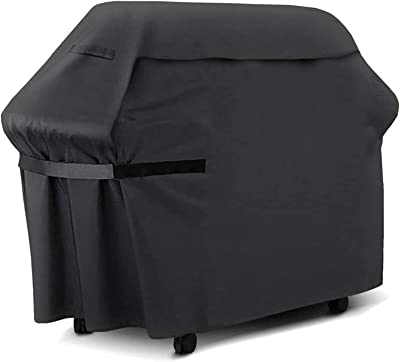 """UniForU Grill Cover Waterproof BBQ Covers Oxford Material Gas Barbecue Grill Cover with 2 Handles & Velcro Straps (S Size- 57""""Lx24""""Wx46""""H)"""