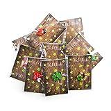 Logbuch-Verlag 20 Mini-Geschenke - kleine Glücksbringer mit Karte VIEL GLÜCK - Kleeblatt Marienkäfer Hufeisen als Give-Away Geschenk Silvester Neujahr