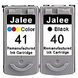 Jalee 2 Cartucce d'inchiostro rigenerata in sostituzione di Canon PG-40 CL-41 Compatibile per Canon PIXMA MP140 MP150 MP160 MP170 MP180 MP190 MP210 MP220 MP450 MP460 MP470 MX300 MX310 iP2500 iP2600