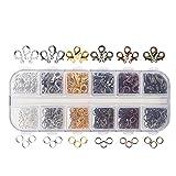 Naler - Cierres de mosquetón de 6colores y anillas de salto abiertas de 6colores para...