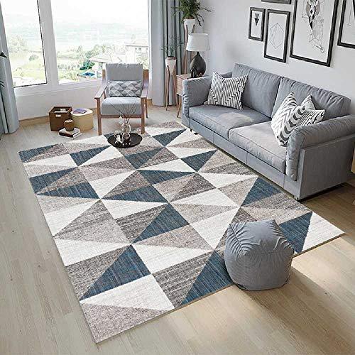 Geen merk eenvoudige Scandinavische woonkamer tapijt gestreepte geruite patroon Edgy salontafel bank Scandinavische tapijt