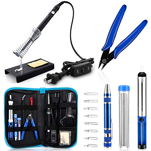 Anbes Soldering Iron Kit, [Upgraded] 60W Adjustable Temperature...