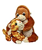 Wild Republic Unlikely Friendships Plush Orangutan and a Cat, Based on a True Story, Gift for Kids, Plush Toys