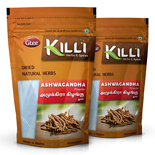KILLI Ashwagandha | Amukkara Kizhangu Powder, 100g (Pack of 2)