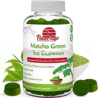 Matcha Green Tea Extract Gummy Vitamin with EGCG. Energy Gummies, Metabolism Booster, Weight Loss & Fat Burner. Vegan Frie...