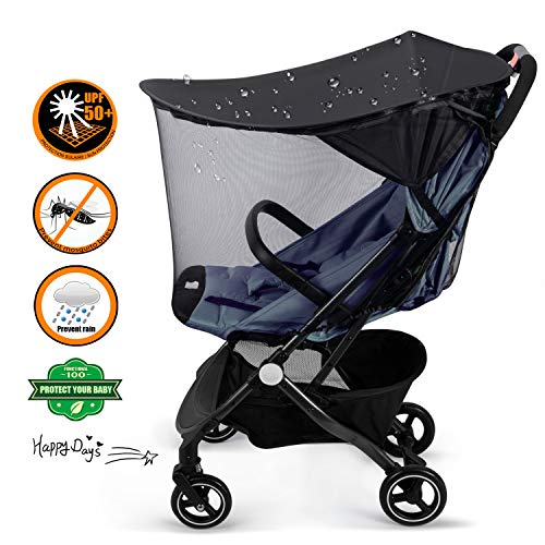 YLYYCC Baby Stroller Widen Sun Shade Awning/Oval Canopy + Bed net Style/Anti- UV Resistance/Rain proofing
