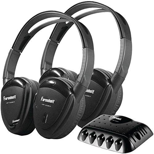 Power Acoustik Farenheit HP-22IRT 2 Swivel Ear Pad Single Channel Infrared Wireless Headphones with Transmitter