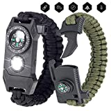 Best Survival Bracelets - SAVERSMALL 2 Pack Survival Bracelets, Emergency Paracord Bracelet Review