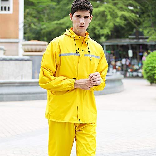 Goldenla Regenjas voor heren, waterdicht, werkt op batterijen, voor volwassenen, wandelen, auto