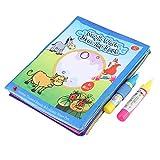 Tnfeeon Kids Magic Drawing Book, Wiederverwendbare Wasser Zeichenmatte Entwicklungsgeschenk Farbe mit Wasser Buch pädagogisches Spielzeug -