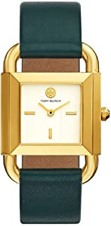 Tory Burch Women's Phipps Valley Forge Green Leather Strap Watch