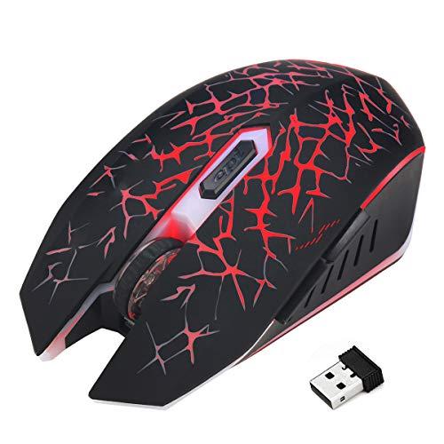 Ponacat draadloze muis 2. Optische muis, draadloos, 4G, met USB-ontvanger, 6 toetsen, draagbaar, dpi, verstelbaar, voor PC laptop