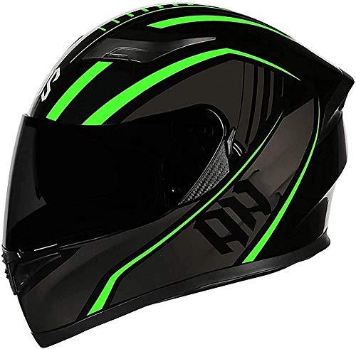 Cascos de motocicleta de cara completa abatibles cascos de moto modulares DOT/ECE aprobados doble visera de sol Offroad Cascos de motocross para mujeres hombres adultos scooter-4_XL = (61 ~ 62 cm)