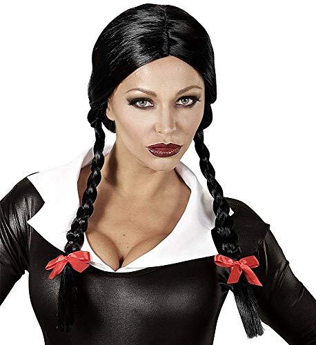 Pruik met zwarte vlechten - extensions - synthetisch - carnaval - halloween - uitstekende kwaliteit - origineel idee voor een verjaardagscadeau voor kerst cosplay