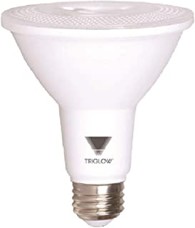 TriGlow T97505 12W (75W Equivalent) PAR30 LED Light Bulb, Warm White (2700K) 850 Lumens, 40° Flood, DIMMABLE Bulb