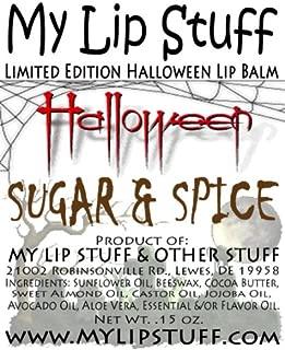 My Lip Stuff-SUGAR & SPICE (Brown Sugar & Cinnamon flavor) LIMITED EDITION HALLOWEEN LIP BALM