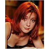 Alyson Hannigan 8x10 Photo How I Met Your Mother American Pie Buffy the Vampire Slayer Pretty Headshot Black Bra kn