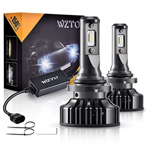 9006 LED, WZTO 12000LM Bombilla 9006 led Coche Faros Delanteros 70W 6000K Bombilla Kit IP67 Impermeable - Garantía de 2 Años