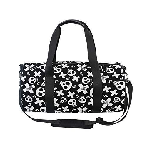 MNSRUU Funky Skulls Große Reisetasche über Nacht Reisetasche Unisex Hohe Kapazität Große Gepäck Sport Gym Bag