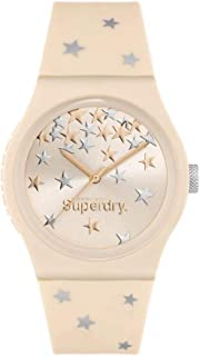 Superdry Urban Star Analogue Rose Gold Dial Rose Gold Silicon Watch For Women - SYL275P