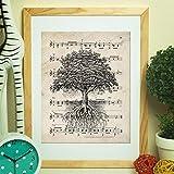 Nacnic Vintage Baum des Lebens Poster. Vintage Stil