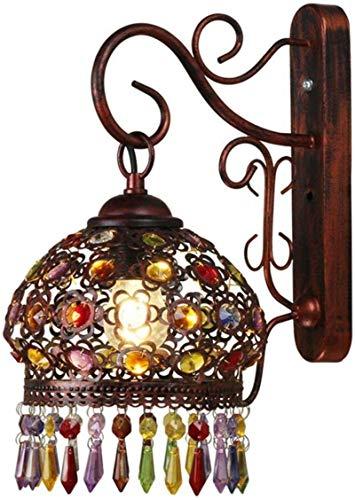 XHLLX Lámpara De Pared Retro Lámpara De Pared De Cristal para Sala De Estar Lámpara De Pared De Noche De Dormitorio Lámpara De Pared De Pasillo De Estilo Europeo Estilo Mediterráneo