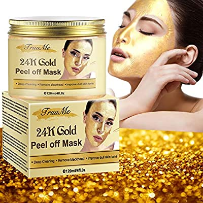 24k Gold Face Mask, Blackhead Mask, Peel Off Face Masks, Blackhead Remover Masks, Gold Face Mask for Anti Aging Anti Wrinkle Facial Treatment Pore Minimizer, Acne Scar Treatment & Blackhead Remover