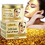 Masque Peel Off, Masque Point Noirs, Blackhead Remover Mask, 24k Gold Point Noir Masque, Masque Peel Off Points Noirs, Pores Nettoyants en Profondeur, Atténuant Les Rides et Les Ridules