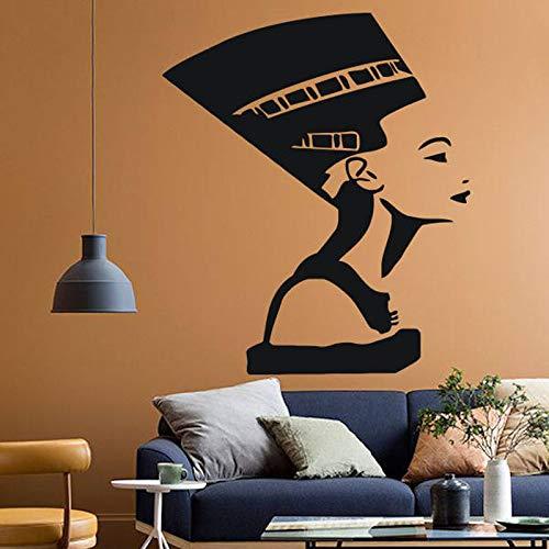 Alte Ägyptische Symbol Königin Nofretete Wandtattoo Vinyl Aufkleber Innenarchitektur Kunst Schlafzimmer Wohnzimmer Mädchen Wohnkultur 42X49 cm